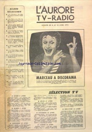 AURORE TV RADIO (L') du 08/04/1974 -...