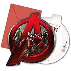 Avengers Ultron Edad de las invitaciones del partido, paquete de 6
