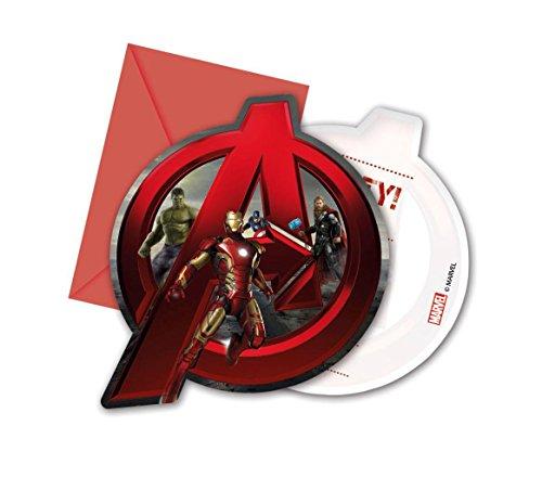 Procos Avengers Age of Ultron Party Einladungen, 6Stück