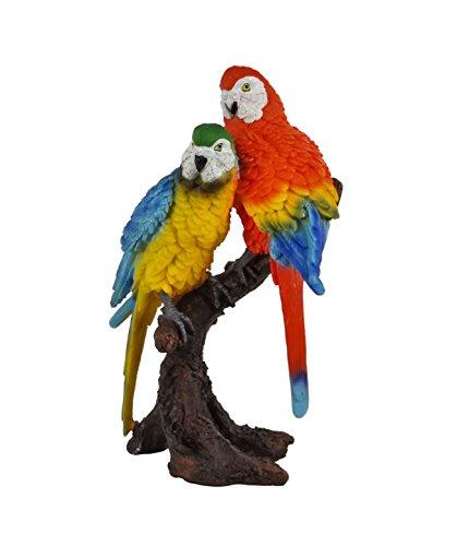 Wellensittich Sittich Paar Papagei Kakadu Deko Garten Vogel Figur Ara Skulptur (Kakadu Papagei Ara)