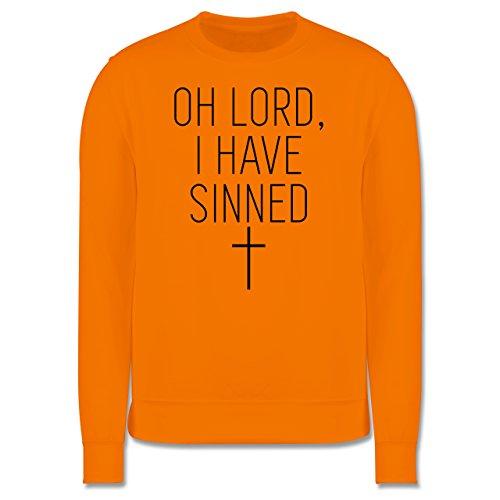 Statement Shirts - Oh Lord, I have sinned - Herren Premium Pullover Orange