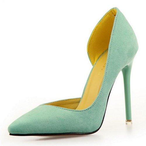 FLYRCX In stile europeo semplice moda punta tacco sottili tacchi alti scarpe di partito F