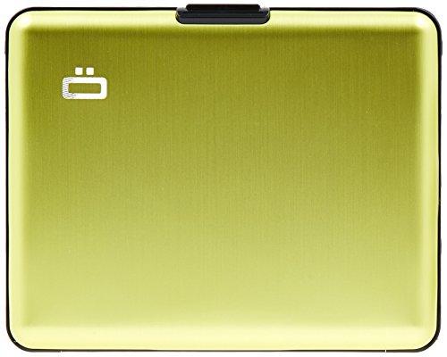 Ögon BS-GLime Portefeuille Big Stockholm wallet Vert citron Aluminium anodisé