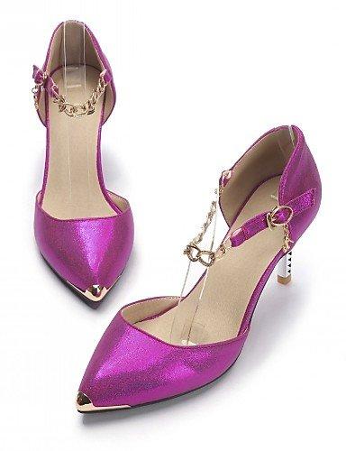 WSS 2016 Chaussures Femme-Bureau & Travail / Habillé / Décontracté-Bleu / Rouge / Blanc-Talon Aiguille-Talons-Talons-Similicuir white-us3.5 / eu33 / uk1.5 / cn32