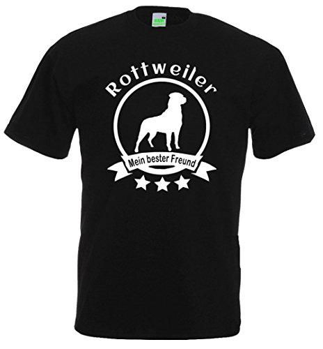 Rottweiler - Mein bester Freund, Hunde T-Shirt, Dogman, Gassimann, Gassifrau, Premiumshirt von Bimaxx® Schwarz