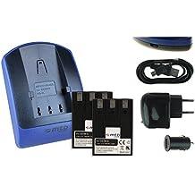 2 Baterìas + Cargador (USB/Coche/Corriente) NB-3L per Canon IXUS i i5 II Iis..IXY..Powershot SD10 SD20..v. lista