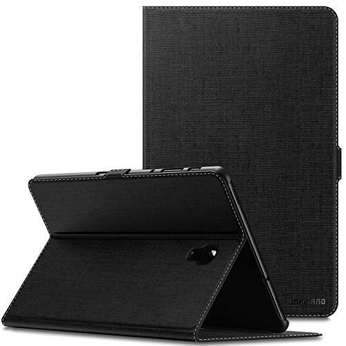 Infiland Samsung Galaxy Tab A 10.5 Hülle Case, Slim Ultraleicht Halten Schutzhülle Cover Tasche Compatible with Galaxy Tab A 10.5 (T590 Wi-Fi/T595 LTE) 2018 (mit Auto Schlaf/Wach Funktion),Schwarz
