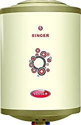 Singer Vesta Plus 2000 Watts Glass Line Storage Water Heater 10 Ltr