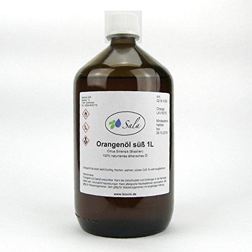Sala ätherisches Orangenöl süß kaltgepresst naturrein 1 L 1000 ml -