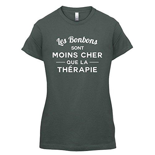 Les bonbons sont moins cher que la thérapie - Femme T-Shirt - 14 couleur Gris Foncé