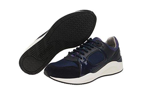 Geox  D540SA 02214C4002, Chaussures à lacets et coupe classique femme Bleu - dunkel-blau