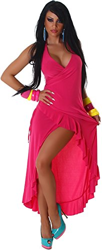 Jela London - Robe - Dos nu - Uni - Femme rose bonbon