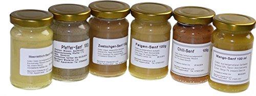 Wiedemer - Gourmet Senf Set, unsere beliebten Senf-Variationen von süß bis scharf in einem Set - in verschiedenen Mengen