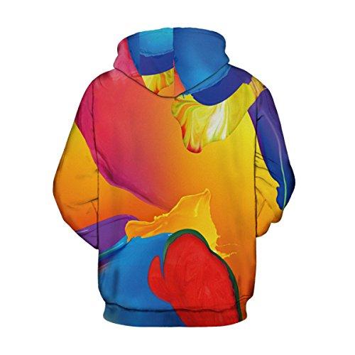 Sweatshirt Hoodies 3D Imprimer Cordon À Capuche À Manches Longues Décontracté Respirant Jumper Avec Grande Poche Pour Hommes Femmes Couples Multicolore