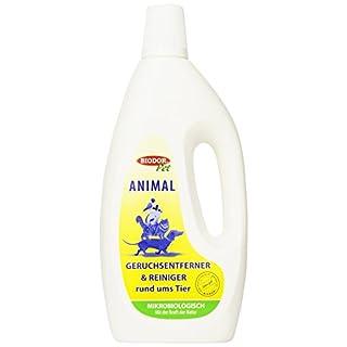 Biodor Animal Geruchsentferner | Bio-Reiniger Konzentrat natürlich und hygienisch | 1 l Flasche