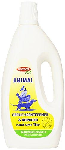 Biodor Animal Geruchsentferner | Bio-Reiniger Konzentrat natürlich und hygienisch | 1 l Flasche - Für Katzenurin Teppich-reiniger