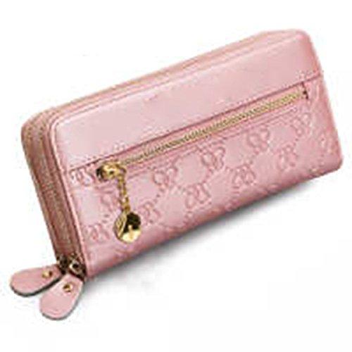 WU Zhi La Signora Ad Alta Capacità La Borsa Di Cuoio Raccoglitore Pink