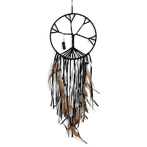Handgefertigt Perlen Naturstein, der Exquisite Traumfänger der Tree of Life Traumfänger Feder Art zum Aufhängen Ornament für Wand- und Auto