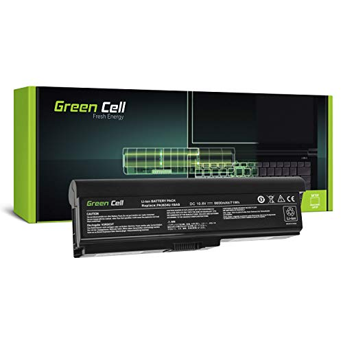 GC® Extended Serie Laptop Akku für Toshiba Satellite L670D-15K L670D-15Q L670D-15U L670D-BT2N22 (6600mAh 10.8V Schwarz)