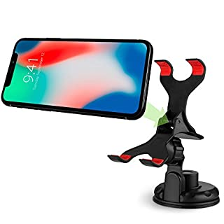 Car Phone Mount, Vena Clip-Grip 360 Degree Strong Suction Cup Car Mount Holder for iPhone XR XS Max X 8 Plus 8 7 Plus 7, Galaxy Note 9 S9 Note 8 S8 Plus, Moto G6 G6 Play G6 Plus G5 G5 Plus, LG V30 G6, Google Pixel/XL/Pixel 2/2 XL/3/ 3 XL (Up to 90mm Wide)