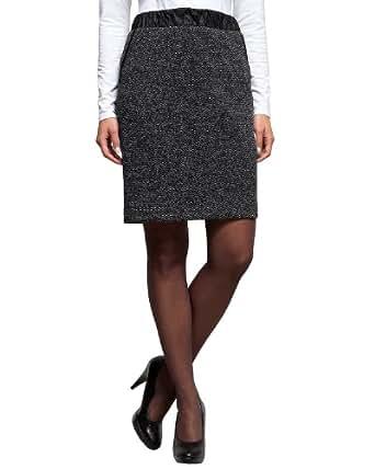 Comma Damen Rock (knielang) 81.309.78.6211 ROCK KURZ, Gr. 36, Mehrfarbig (99M2 grey/black dots)