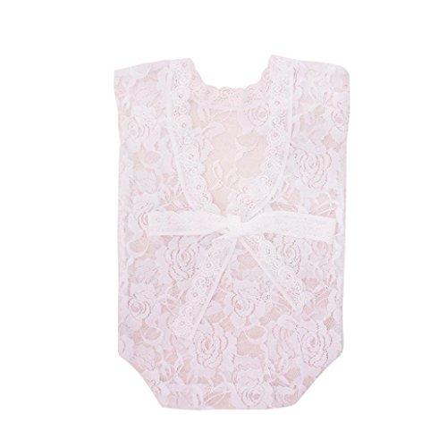 (Ouneed Baby Kostüm Fotografie Requisiten Neugeborene, Neugeborene Säuglingsbaby-Spielanzug Spitze Stütze OverallPrinzessin-Kleidung (Weiß))
