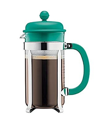 Bodum Caffettiera 8 Cup, 1L Cafetiere Coffee Maker, Teal Green by Bodum