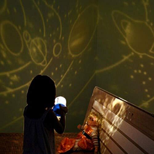 Sternbild Nachtlicht Baby Kinder Lampe Mond Sterne Himmel Projektor rotierenden Kosmos@Pink Solar System
