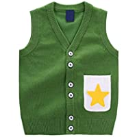 Chaleco de botón Abierto de Chaleco de Bolsillo con Botones y Chaleco de (Color : Green, Tamaño : 90cm)