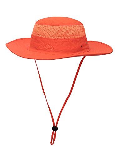 WANYING Unisex Outdoor Sonnenhut Bucket Hut Fischer Hut Buschhut Atmungsaktiv Schnelltrocknend - für Kopfumfang 56-60 cm Orange (Casual Sommer-hut)