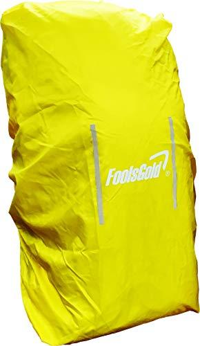 FoolsGold wasserdichte Abdeckung für Wander Rucksäcke (50L - 120L) - Gelb (Wander-rucksack, 50l)