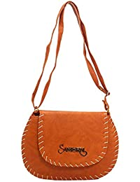 DCenterprises Women's Handbag/Shoulder Bag/Sling Bag Material- Synthetic Leather Color Chocolate