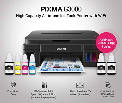 Canon Pixma G3000 All-in-One Wireless Ink Tank Colour Printer 2