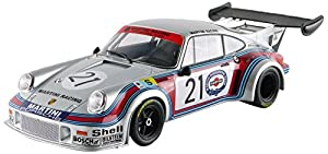 Norev-187425-Porsche 911RSR Turbo 2.1-Le Mans 1974-Escala 1/18-Plata/Rojo/Azul