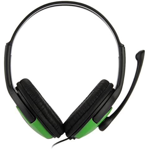 Dual Auriculares 2.5mm Casco Headset con Micrófono Para Xbox 360 Juegos Negro
