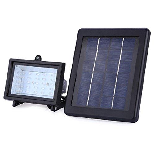 Lang Boss étanche IP65 Énergie solaire 30 LED 2,5 W extérieur spot Gazon Paysage Projecteur d'éclairage, Alliage d'aluminium, blanc, None 2.50 wattsW 6.00 voltsV