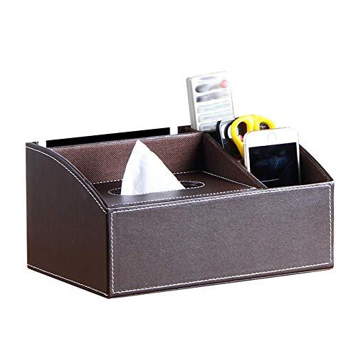 Kleenex Box, piel sintética dispensador de pañuelos (Caja pañuelos funda Toalla dispensador Trébol NEX Box, Tissue Box Funda Caja Caja de pañuelos paños Box talla única marrón