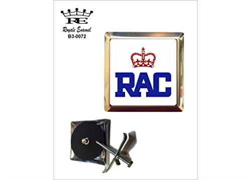 Royale Emaille Royale quadratisch Auto Grill Badge - RAC Royal Automobile Club B3. 0072