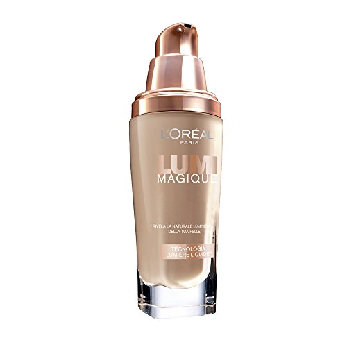 L'Oréal Make Up Designer Paris Lumi Magique Fondotinta Liquido, 3N Pure Linen
