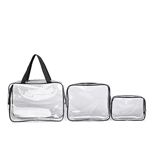 Dxlta Kosmetiktasche Transparente PVC Wasserdichte Handtasche Waschen Taschen Make-up Tasche Durchsichtig Beauty Supplies Kulturtaschen Set 4 Farben (Alligator Handtuch)