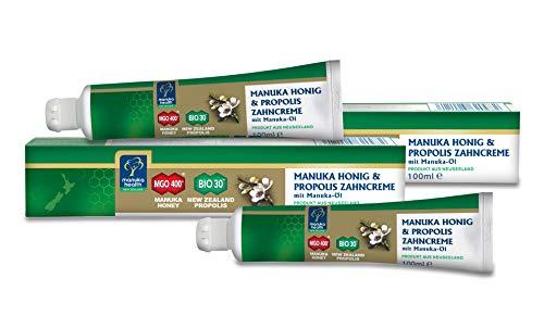 Manuka Health Zahncreme mit MGO 400+ Honig und Manuka Öl, 2er Pack (2 x 100 ml)