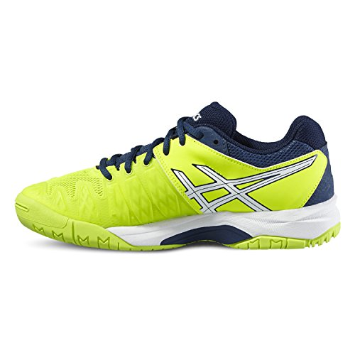6 ARGILE CHAUSSURES GS JUNIOR TENNIS Asics GEL-RESOLUTION - 0701 SAFETY YELLOW/WHITE/POSEI