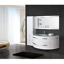 luxus4home design badmobel set cote d azur weiss hochglanz waschtisch 120 cm inkl