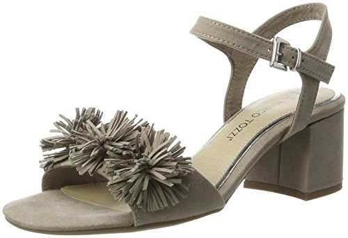 Marco Tozzi 28315, Sandales Bout Ouvert Femme Beige (Taupe 341)