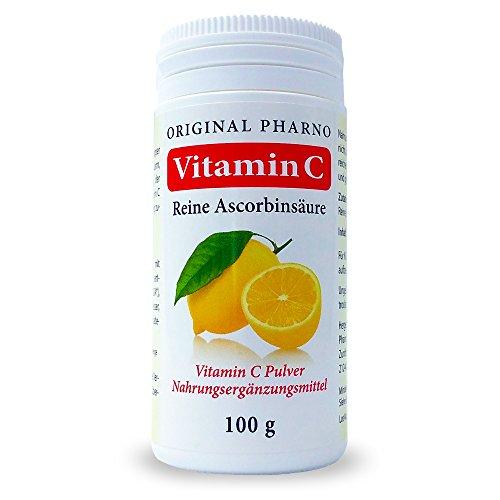 Vitamin C – Reine Ascorbinsäure – Apotheken Qualität 1 x 100 g | 1 Dose [Original-Pharno]