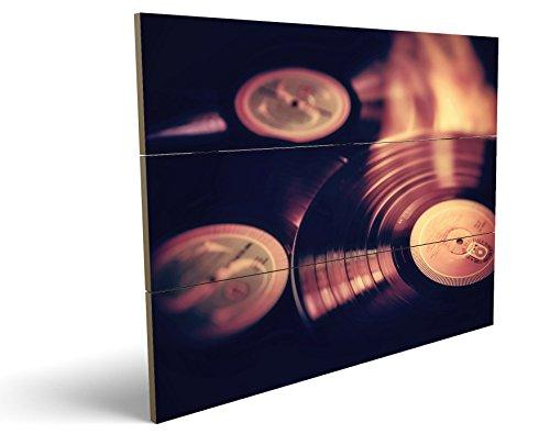 Vinyl Platten, qualitatives MDF-Holzbild im Drei-Brett-Design mit hochwertigem und ökologischem UV-Druck Format: 100x70cm, hervorragend als Wanddekoration für Ihr Büro oder Zimmer, ein Hingucker, kein Leinwand-Bild oder Gemälde