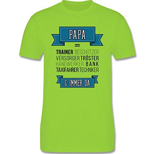 Vatertag - Papa ist.... - Herren Premium T-Shirt Hellgrün