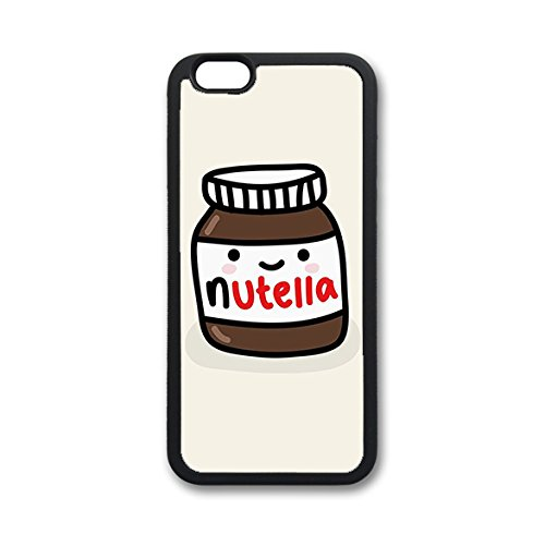 Coque silicone BUMPER souple IPHONE 6/6s - Nutella chocolat CASE tpu DESIGN + Film de protection INCLUS 3