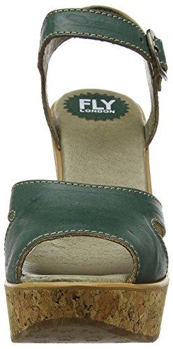 FLY London Hull978, Sandales Compensées  Femme Vert (Nile Green 003)