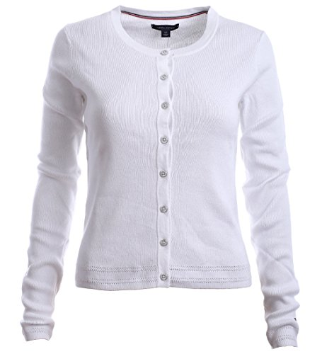Tommy Hilfiger Damen Strick Jacke, Women's Cardigan Sweater, Medium